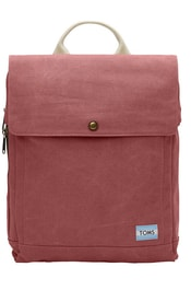 Batoh na notebook TOMS Red Canvas Backpack