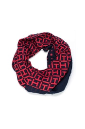 Dámská šála TOMMY HILFIGER TH Monogram Scarf Tommy Navy/Tommy Red