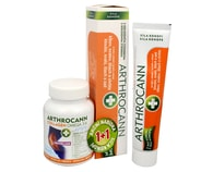 Arthrocann Collagen Omega 3-6 Forte 60 tbl. + Arthrocann - gel z konopí s koloidním stříbrem na klouby, svaly, šlachy 75 ml