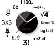 Nástěnné hodiny Clocker Math