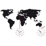 Nástěnné hodiny Clocker World Time