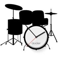Nástěnné hodiny Clocker Drums