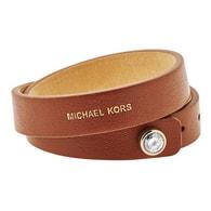 Hnědý kožený náramek Michael Kors MKJ4897710
