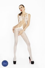 PASSION Bodystocking PASSION BS030 bílá - One size