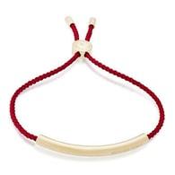 Červený provázkový náramek Michael Kors MKJ5311710