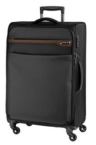 Cestovní kufr March Lite L Black/Cognak