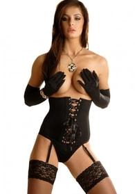Erotický korzet BEAUTY NIGHT Carmen černý