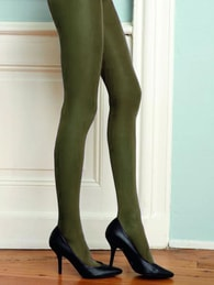 Barevné punčochy CHANGE Hosiery 40 DEN zelené