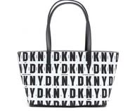 Elegantní černobílá kabelka DKNY Top Zip Shopper