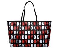 Elegantní černočervená kabelka DKNY Top Zip Shopper