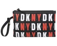 Elegantní černočervená taštička DKNY wristlet handbag