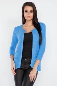 Dámský cardigan FOBYA 61005 modrý