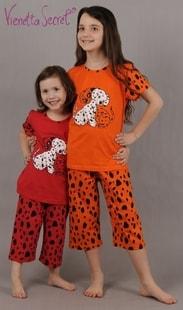 Vienetta Secret Dětské pyžamo kapri Vienetta Secret Pes Dalmatin - oranžová - 15 - 16