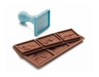 Set - formy na čokoládu + razítko Ibili