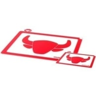 Krájecí deska na maso Mastrad červená set – 2ks