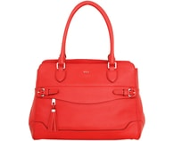 Elegantní kožená business kabelka RALPH LAUREN Peterson Shopper Punch červená