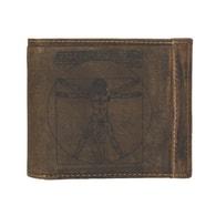 Pánská hnědá kožená peněženka Brown ADPW5