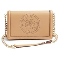 Elegantní crossbody kabelka GUESS Quattro G Perforated Cross-body Camel